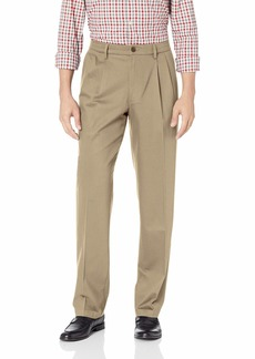 Dockers Men's Classic Fit Signature Khaki Lux Cotton Stretch Pants-Pleated timber wolf