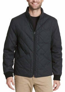 Dockers Men's Coated Cotton Diamond Quilted Jacket