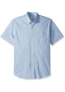 Dockers Men's Comfort Stretch Soft No Wrinkle Short Sleeve Button Front Shirt  Small