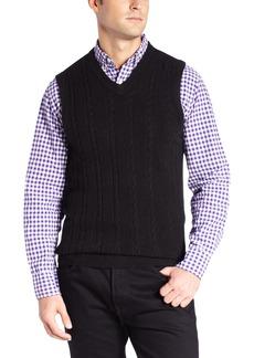 Dockers Men's Comfort Touch Cabled Vest
