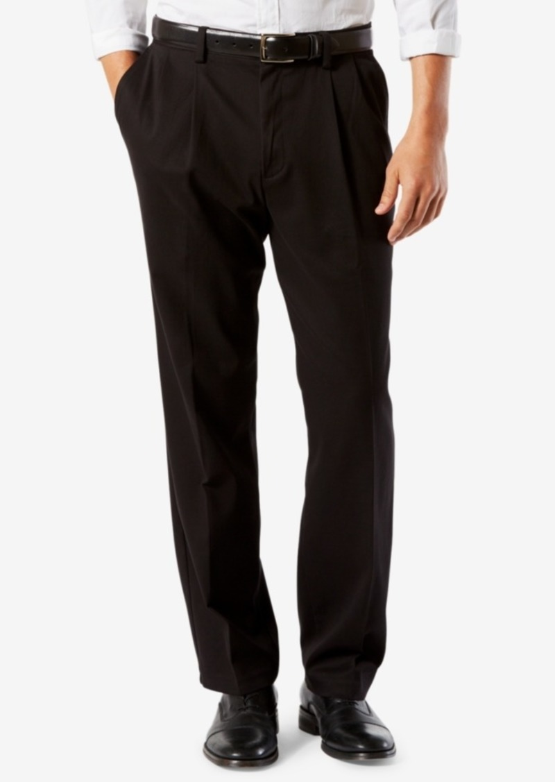 Dockers Men's Easy Classic Pleated Fit Khaki Stretch Pants