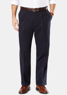 Dockers Men's Easy Comfort Relaxed Fit Pleated Khaki Pants