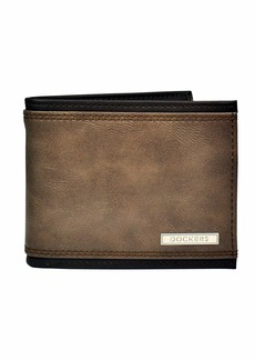 Dockers Men's Bifold Leather Wallet - Thin Slimfold Extra Capacity