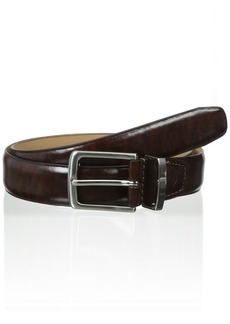Dockers Men's Feather-Edge Belt with Center Crease