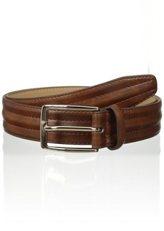 Dockers Men's Feather-Edge Belt with Center Padding