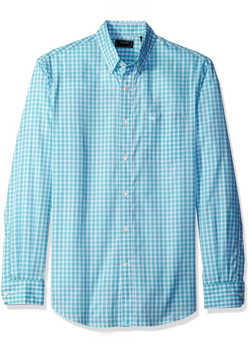 Dockers Men's Framed Gingham Long Sleeve Woven Shirt