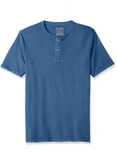 Dockers Men's Garment Dye Henley Short Sleeve Shirt