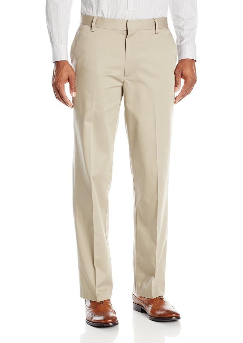 f31b8397d0bc5 Men's Insignia Wrinkle Free Khaki Straight-Fit Flat-Front Pant