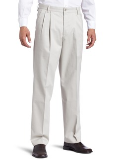 Dockers Men's Iron Free Khaki D3 Classic Fit Pleated Pant Cloud - discontinued