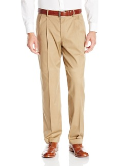 Dockers Men's Iron Free Khaki D4 Relaxed Fit Pleated Pant