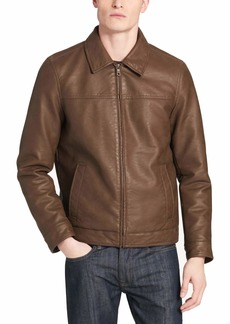 Dockers Men's James Classic Faux Leather Laydown Collar (Standard & Big-Tall Sizes) Jacket
