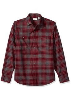 Dockers Men's Jaspe Plaid Long Sleeve Button Front Shirt