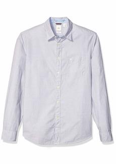 dockers Men's Long Sleeve Button Front Comfort Flex Shirt End On Burma Grey L