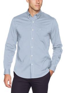 Dockers Men's Long Sleeve Button Front Comfort Flex Shirt Mateo Delft S