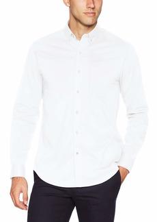 Dockers Men's Long Sleeve Button Front Comfort Flex Shirt  M