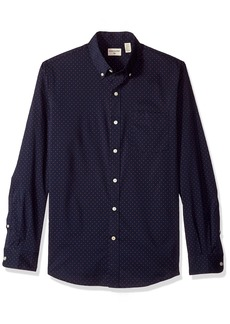Dockers Men's Long Sleeve Button Front Comfort Flex Shirt Navy