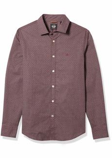 Dockers Men's Long Sleeve Button Up Perfect Shirt Bice winetasting - Supreme Flex