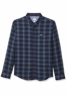 Dockers Men's Long Sleeve Double Cloth Shirt  M