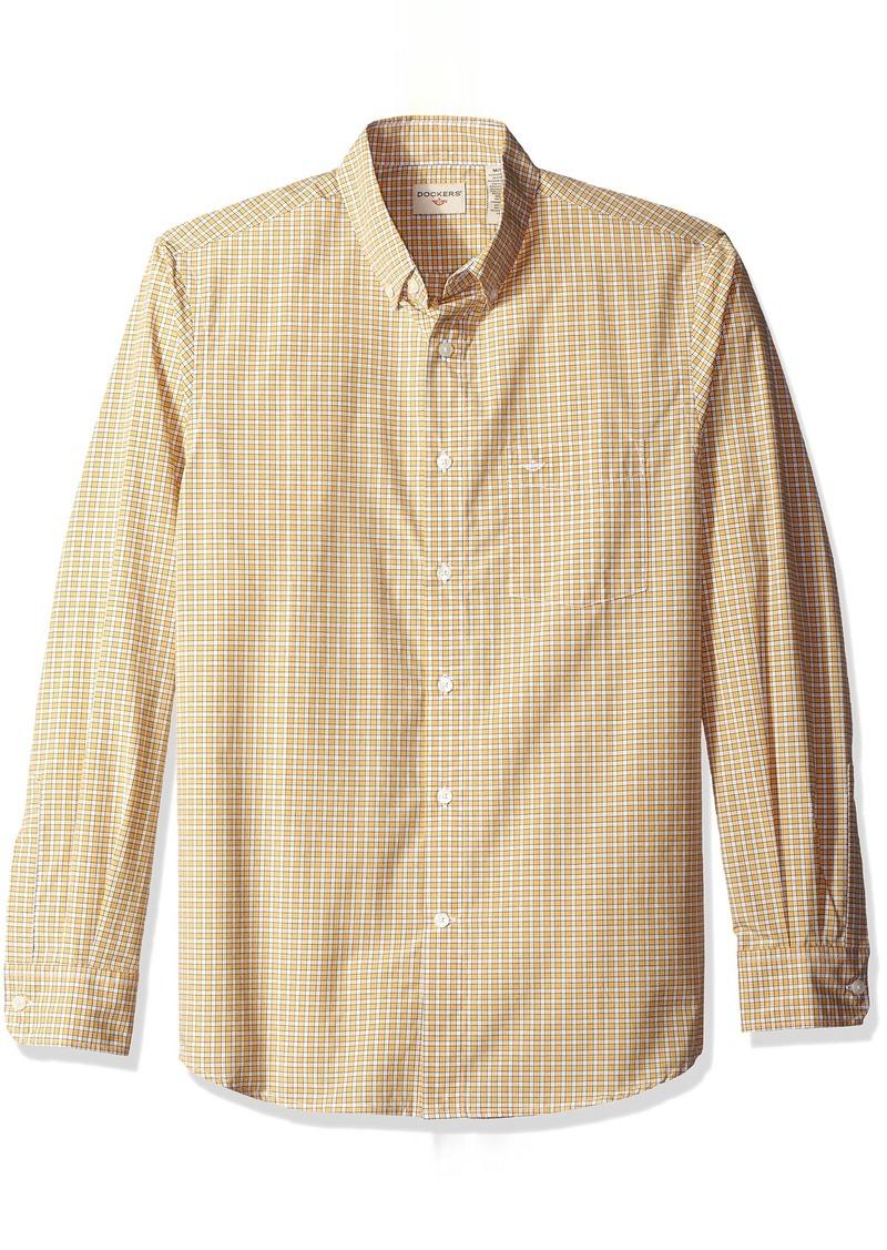 Dockers Men's Long Sleeve Framed Gingham Woven Shirt