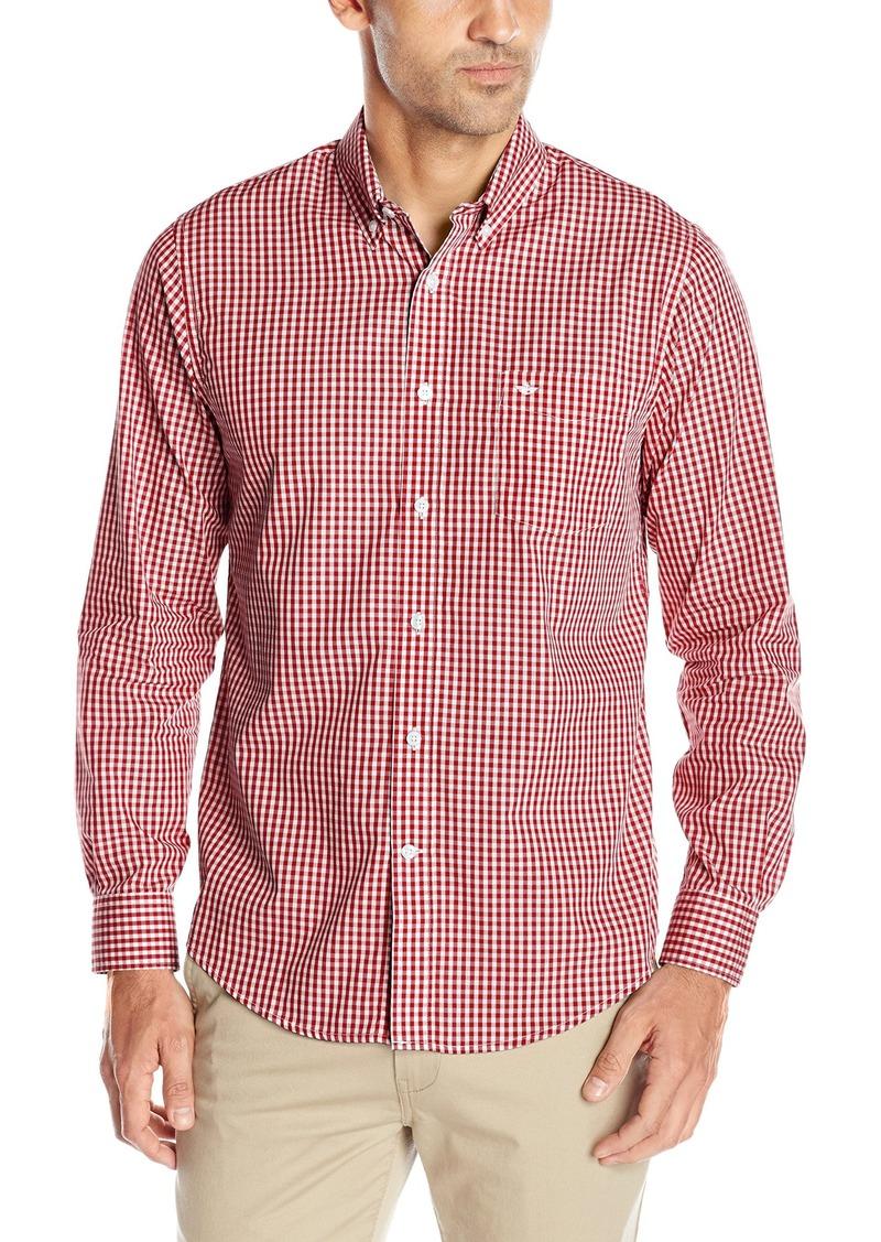 Dockers Men's Long Sleeve Gingham Cvc Woven Shirt