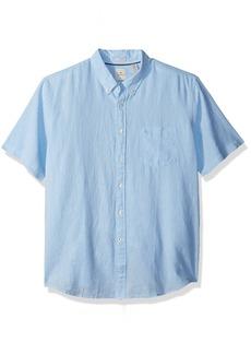 Dockers Men's Long Sleeve Linen Button Front Woven Shirt