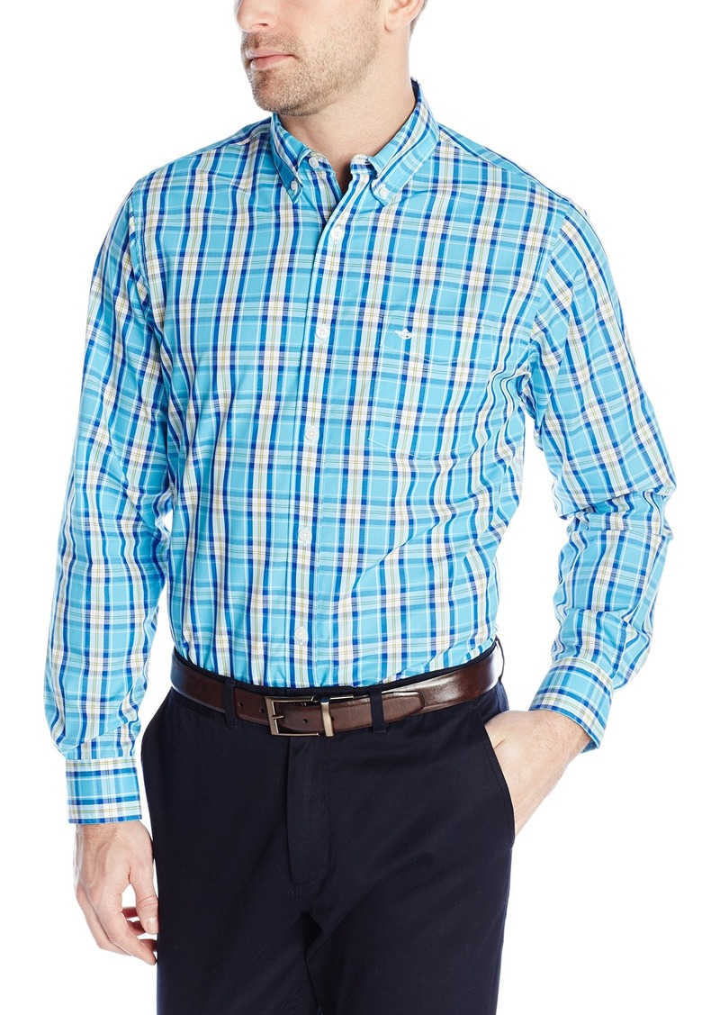 Dockers dockers men 39 s no wrinkle button down collar spade for Dress shirt no pocket