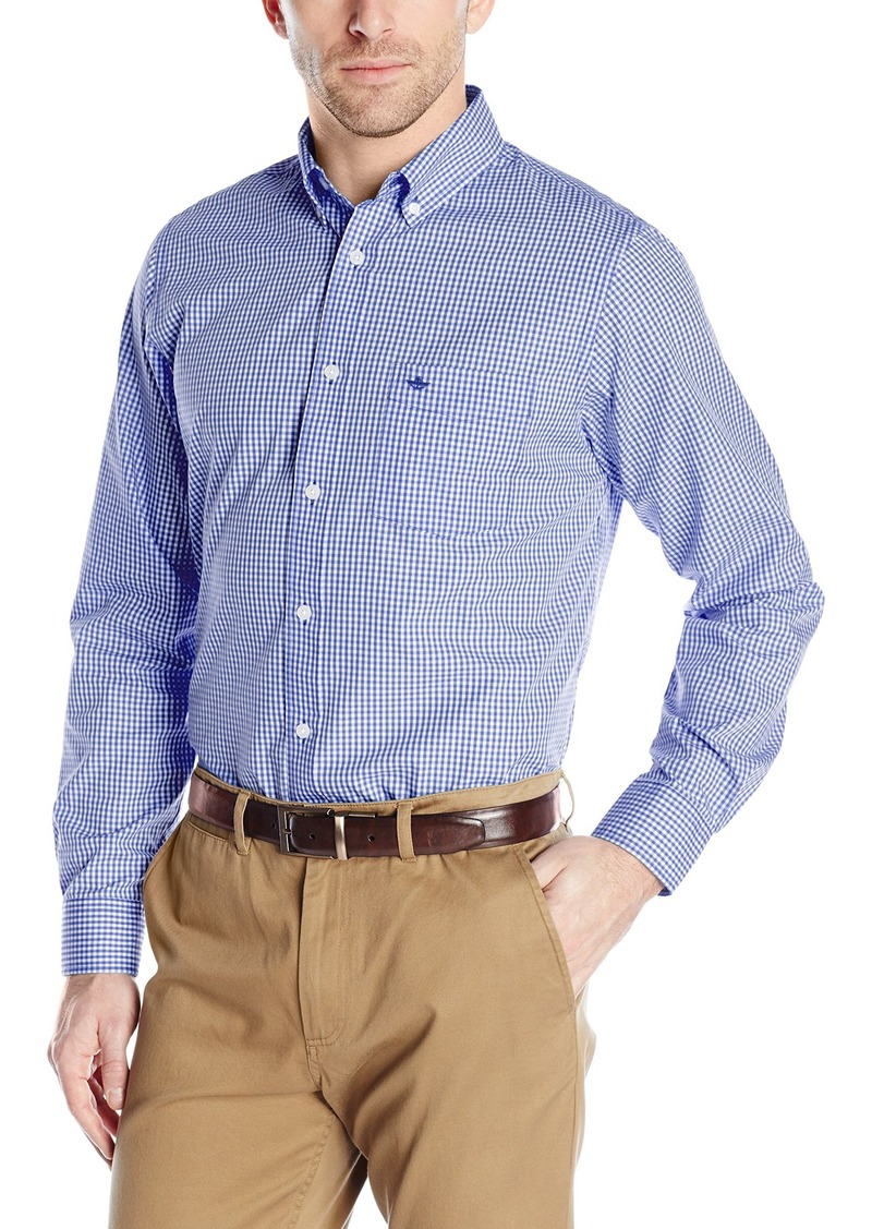 Dockers dockers men 39 s no wrinkle long sleeve button front for Dockers wrinkle free shirts
