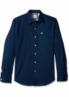 Dockers Men's Long Sleeve Original Washed Shirt Eaves poplin Ocean 2X-Large