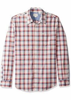 Dockers Men's Long Sleeve Original Washed Shirt Keener poplin Marsala