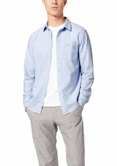 Dockers Men's Long Sleeve Poplin Shirt Chambray Blue