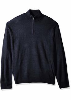 dockers Men's Long Sleeve Quarter Zip Sweater  L