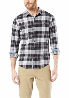 Dockers Men's Long Sleeve Smart Temp Flannel Shirt  XL