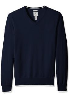 Dockers Men's Long Sleeve V-Neck Cotton Sweater  Navy