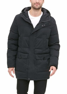 Dockers Men's Micro Twill Long Hooded Parka