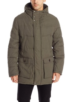 Dockers Men's Microtwill Long Hooded Parka