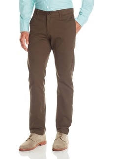 Dockers Men's Modern Khaki Slim Tapered Flat Front Pant Brushed Dobby/Smokey Hazelnut - discontinued