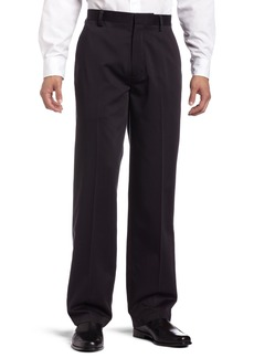Dockers Men's Never Iron Essential Khaki D3 Classic-Fit Flat-Front Pant Black - discontinued