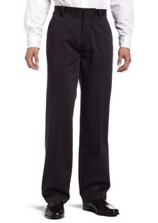 Dockers Men's Never Iron Essential Khaki D3 Classic-Fit Flat-Front Pant Black - discontinued