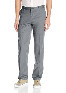 Dockers Men's No Wrinkle Stretch Khaki Straigh-Fit Flat-Front Pant Burma Grey (Stretch) - discontinued