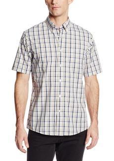 Dockers Men's No Wrinkle Short Sleeve Plaid Shirt