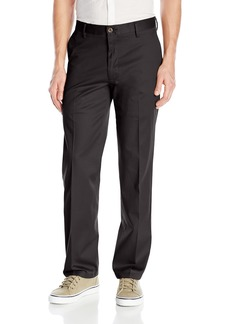 Dockers Men's No Wrinkle Stretch Khaki Straigh-Fit Flat-Front Pant Black (Stretch) - discontinued