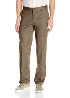 Dockers Men's No Wrinkle Stretch Khaki Straigh-Fit Flat-Front Pant Dark Pebble (Stretch) - discontinued