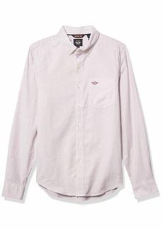 Dockers Men's Oxford Long Sleeve Button Front Shirt  XL