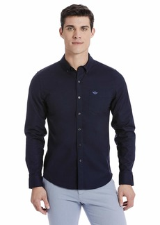 Dockers Men's Oxford Long Sleeve Button Front Shirt  L