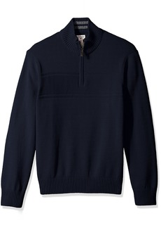 Dockers Men's Quarter Zip Cotton Long Sleeve Sweater