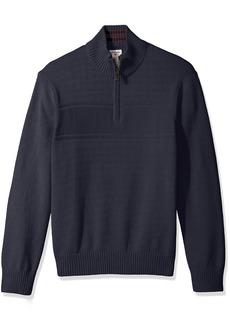 Dockers Men's Quarter Zip Cotton Long Sleeve Sweater