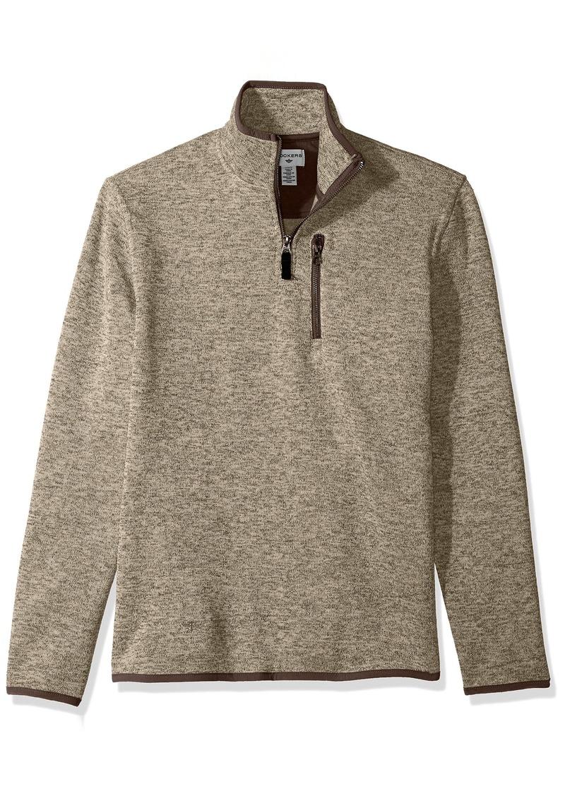 Dockers Dockers Men S Quarter Zip Sweater Fleece