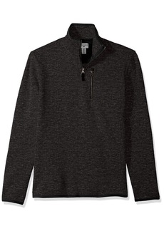 Dockers Men's Quarter Zip Sweater-Fleece black Heather