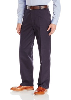 Dockers Men's Refined Khaki Classic Fit Flat Front Pant Addison/Midnight - discontinued