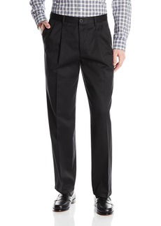 Dockers Men's Refined No Wrinkles Khaki Classic Pleat Pant Black  - discontinued